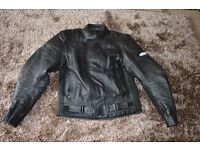"ASHMAN Leather Motorcycle Jacket 44"" (54 EUR) sized chest"