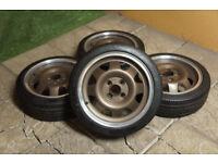 "Genuine ATS Cup's 15"" Alloy wheels 4x100 Scirocco Golf Polo Clio Corsa Civic Deep Dish Bronze Alloys"