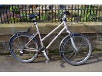 Bicycle (Edinburgh Co-op), womens, with rack, Shimano gears (15), thick tyres