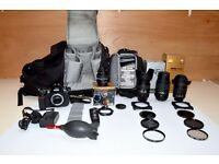Nikon D300 camera, 4 Nikon lenses, B&W filters, Lowepro backpack, Bag of 10 filters, Remote timer