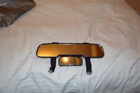 Clip on rear view mirror