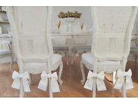 ** Perfect for CHRISTMAS !! UNIQUE & BEAUTIFUL !! French Antique Shabby Chic Dining Table & 6 Chairs