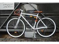 NEW NOLOGO Aluminium single speed fixed gear fixie road bike/ bicycles + 1year warranty jjm