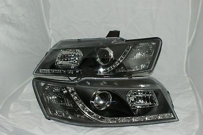 Holden Commodore All VZ Models NEW LED DRL Like Black New Projector Headlights