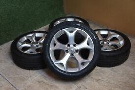 "Genuine Vauxhall Corsa D VXR 17"" Alloy wheels 5x110 Astra Zafira Vectra SAAB Alloys"