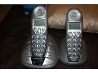 BT Freestyle 650 Twin Home Telephones system with answer phone.