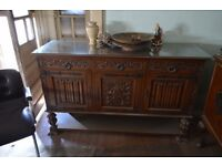 Pair of large ornate sideboards (antique)