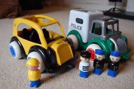 Taxi & Police car