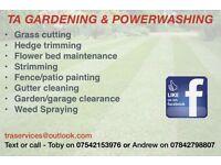 Gardening, Powerwashing/powerhosing and fence painting etc!