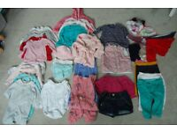 Large bundle of girls clothes 6-9 months (over 40 items)
