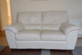 Natuzzi Cream Leather 2 seater sofa