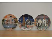 Set of 3 Poole Pottery Transfer Plates