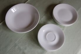 Corelle Snowwhite China, Side Plates & Saucers Pieces in Excellent Condition, £1 each