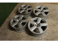 "Genuine AUDI A4 S Line 18"" Alloy wheels 5x112 A3 A4 VW Passat Golf T4 Caddy Alloys for sale  Clacton-on-Sea, Essex"