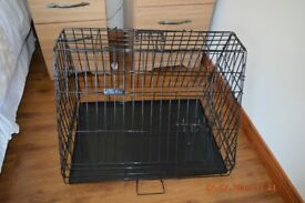 travel dog crate with sloped front