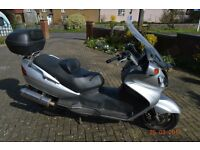 Suzuki Burgman AN650 K3 maxi scooter in good condition (2003) and MOT for sale . Mileage 33000