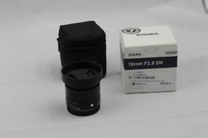 SONY E SIGMA 19mm F2.8 DN lens MINT BOXED