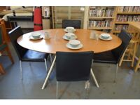 Oval Dining Table And 4 Chairs - GT 110