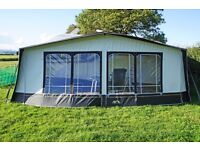 CARAVAN AWNING, PEAK 1000 with fibreglass frame. Great quality, clean and in excellent condition