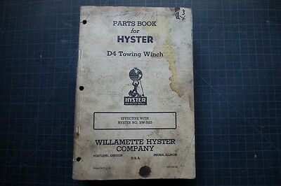 Hyster D4 Cat Tractor Dozer Crawler Winch Parts Manual Maintenance Caterpillar