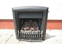 Black gas fire with realistic coals