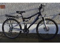 "Mens 17"" Apollo FS26 bike for sale including some accessories, great condition"