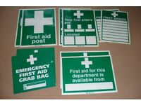 10 large first aid signs..sealed in packet unused