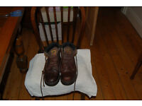 CAT dark brown lace up short boots size 6/7