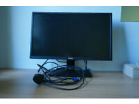 BenQ GW2470H 23.8in Full HD Monitor + cables (used, in great condition)