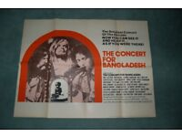 the concert for bangladesh ' bob dylan ' george harrison ' original cinema poster