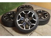 "Genuine Citroen DS3 Bellone 17"" Alloy wheels 4x108 Black VTR DStyle DSport C3 Berlingo"