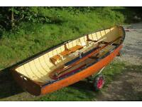 REDUCED TO SELL - Classic 12' mahogany sailing dinghy with excellent Hyde sails.