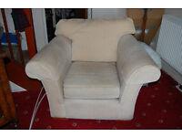 Beige deep seat Armchair