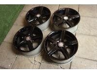 "18"" AMG Style Alloy wheels 5x112 fits Mercedes S Class CLS SL E CLK C Class Black Alloys"