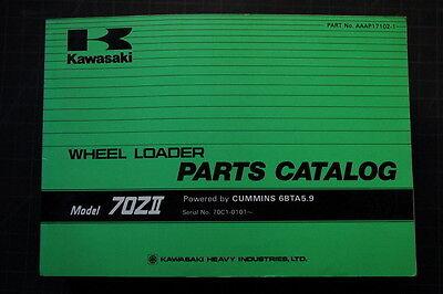 Kawasaki 70zii Wheel Loader Parts Manual Book Catalog Shop Pay Oem Index Spare