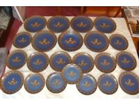 Winterling of 'West' Germany, Blue Dinnerware, 23 Gorgeous Pieces .