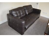 Leather 2 seater sofa bed! New must sell price ****£90****