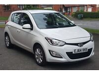 2014 (64) HYUNDAI i20 1.2 ACTIVE 5DR VERY LOW MILEAGE