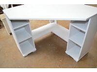 Lovely white corner desk