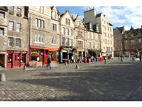 Grassmarket, Websters Land. Quietly located yet very central 1 bed apartment in secure building