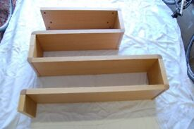 SHELVING-OAK BRAND NEW STILL BOXED.all fittings included