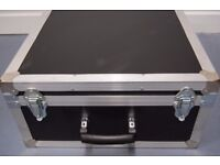 Flight Case for instrument or equipment transportation. Unused and with foam insert. Medium size.