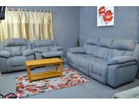 EX SCS LONG BEACH AMERICAN SOFA IN GREY OR RED ELECTRIC RECLINER