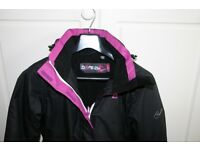 Girls Black/Purple ski suit age 12-14