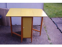 Original 1950s Formica table with storage