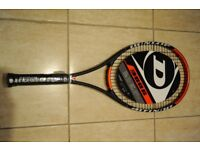 Three Dunlop Hotmelt 300G Tennis Rackets. Grip size 3. Two used rackets in great condition, one new.