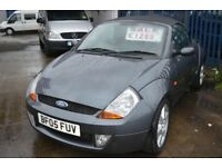2005 FORD STREET KA CONVERTIBLE IN GOOD CONDITION Low mileage 60000 MOT UNTIL MAY 2018