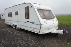 CARAVAN ACE SUPREME TWINSTAR 2X MOVER TWINAXLE FIXED BED