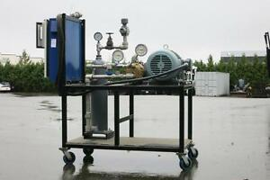 Gas Pressure Testing Unit w/ Hydra-cell Pump, 15hp Motor