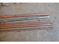 Copper pipe and chrome pipe